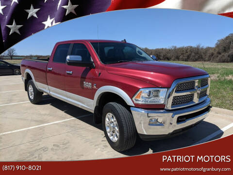 2014 RAM Ram Pickup 2500 for sale at Patriot Motors in Granbury TX