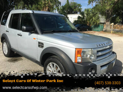 2007 Land Rover LR3 for sale at Select Cars Of Winter Park Inc in Orlando FL
