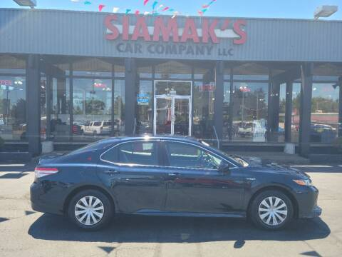 2018 Toyota Camry Hybrid for sale at Siamak's Car Company llc in Salem OR