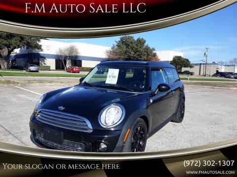 2013 MINI Clubman for sale at F.M Auto Sale LLC in Dallas TX