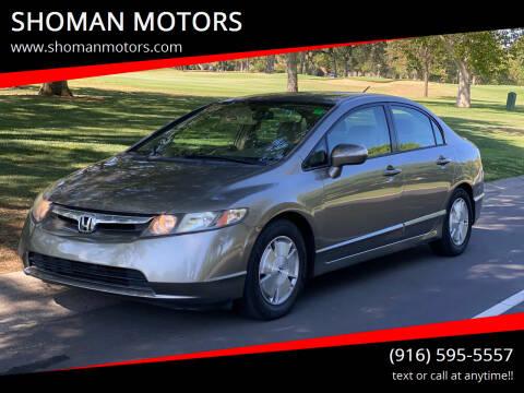 2006 Honda Civic for sale at SHOMAN MOTORS in Davis CA