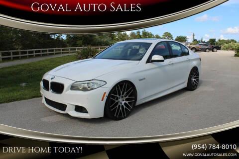 2011 BMW 5 Series for sale at Goval Auto Sales in Pompano Beach FL