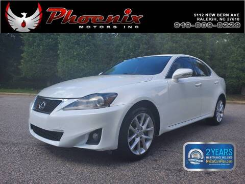 2013 Lexus IS 250 for sale at Phoenix Motors Inc in Raleigh NC