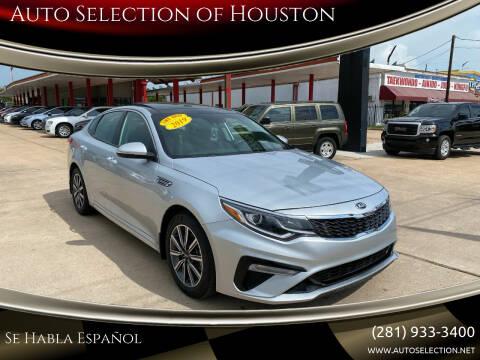2019 Kia Optima for sale at Auto Selection of Houston in Houston TX