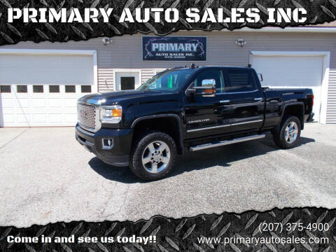 2016 GMC Sierra 2500HD for sale at PRIMARY AUTO SALES INC in Sabattus ME