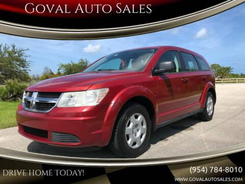2009 Dodge Journey for sale at Goval Auto Sales in Pompano Beach FL
