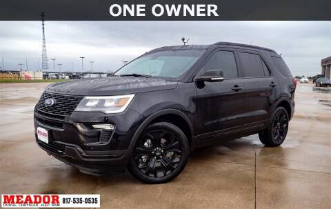 2019 Ford Explorer for sale at Meador Dodge Chrysler Jeep RAM in Fort Worth TX