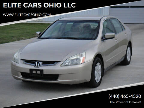2004 Honda Accord for sale at ELITE CARS OHIO LLC in Solon OH