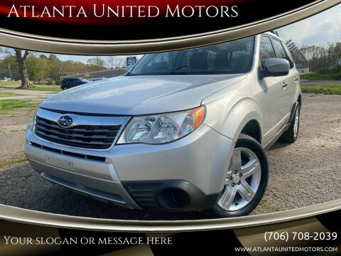 2009 Subaru Forester for sale at Atlanta United Motors in Jefferson GA
