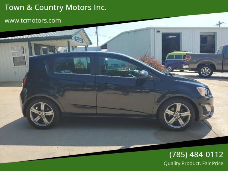 2014 Chevrolet Sonic for sale at Town & Country Motors Inc. in Meriden KS