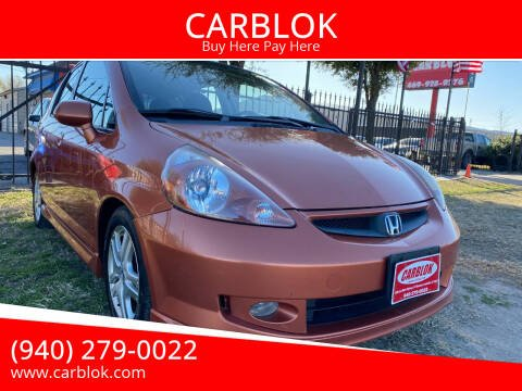 2007 Honda Fit for sale at CARBLOK in Lewisville TX
