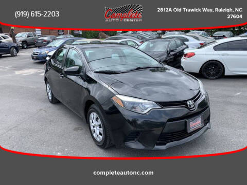 2015 Toyota Corolla for sale at Complete Auto Center , Inc in Raleigh NC