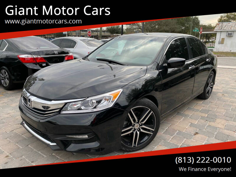2017 Honda Accord for sale at Giant Motor Cars in Tampa FL