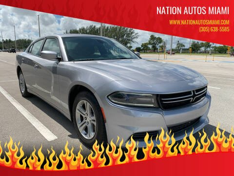 2015 Dodge Charger for sale at Nation Autos Miami in Hialeah FL