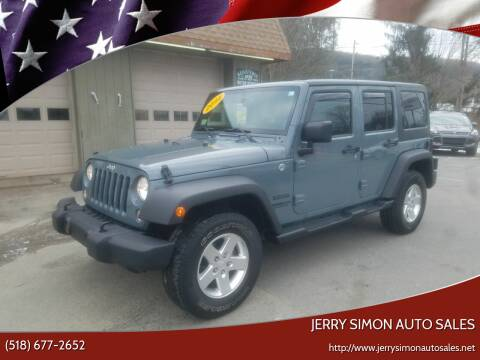 2014 Jeep Wrangler Unlimited for sale at JERRY SIMON AUTO SALES in Cambridge NY
