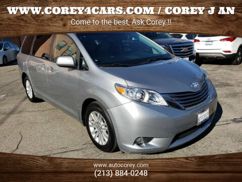 2015 Toyota Sienna for sale at WWW.COREY4CARS.COM / COREY J AN in Los Angeles CA