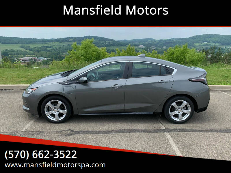 2017 Chevrolet Volt for sale at Mansfield Motors in Mansfield PA