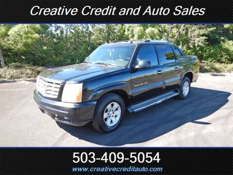 2005 Cadillac Escalade EXT for sale at Creative Credit & Auto Sales in Salem OR