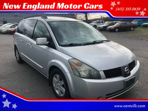 2004 Nissan Quest for sale at New England Motor Cars in Springfield MA