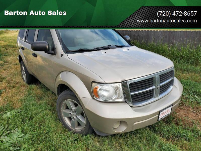 2009 Dodge Durango for sale at Barton Auto Sales in Longmont CO
