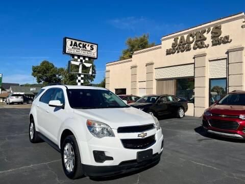2013 Chevrolet Equinox for sale at JACK'S MOTOR COMPANY in Van Buren AR