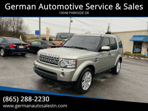2010 Land Rover LR4 for sale at German Automotive Service & Sales in Knoxville TN
