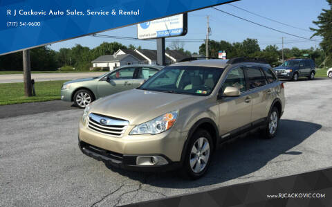 2010 Subaru Outback for sale at R J Cackovic Auto Sales, Service & Rental in Harrisburg PA