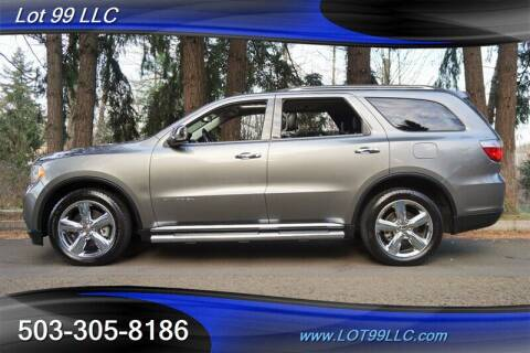 2012 Dodge Durango for sale at LOT 99 LLC in Milwaukie OR