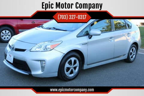 2012 Toyota Prius for sale at Epic Motor Company in Chantilly VA