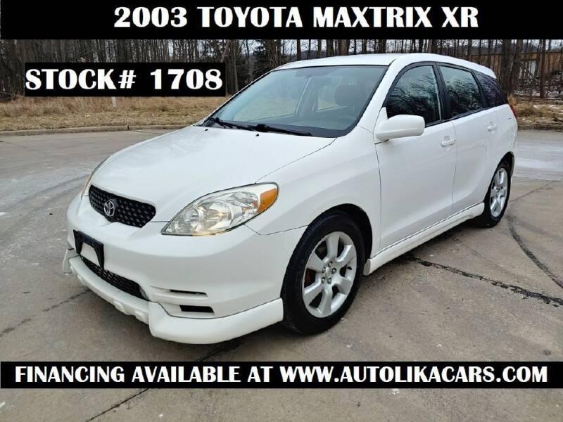 2003 Toyota Matrix for sale at Autolika Cars LLC in North Royalton OH