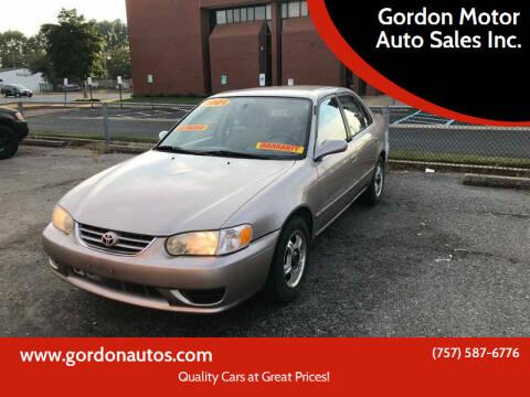 2001 Toyota Corolla for sale at Gordon Motor Auto Sales Inc. in Norfolk VA