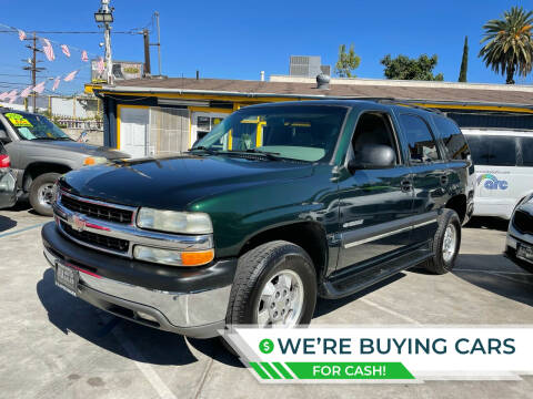 2002 Chevrolet Tahoe for sale at Good Vibes Auto Sales in North Hollywood CA