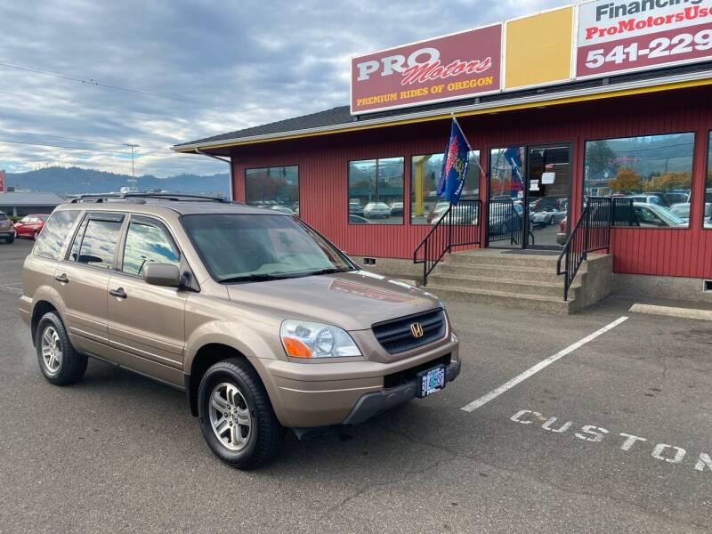 2004 Honda Pilot for sale at Pro Motors in Roseburg OR