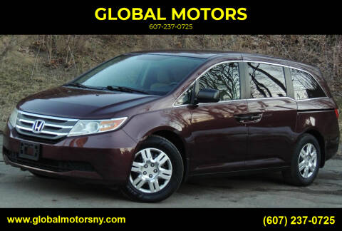 2011 Honda Odyssey for sale at GLOBAL MOTORS in Binghamton NY