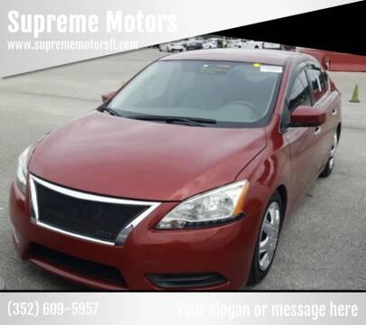 2013 Nissan Sentra for sale at Supreme Motors in Tavares FL