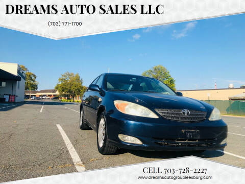 2004 Toyota Camry for sale at Dreams Auto Sales LLC in Leesburg VA