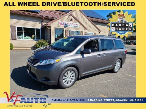 2017 Toyota Sienna for sale at V & F Auto Sales in Agawam MA