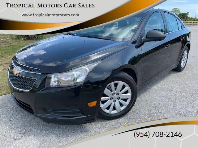 2011 Chevrolet Cruze for sale at Tropical Motors Car Sales in Deerfield Beach FL