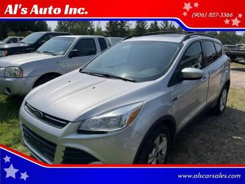 2015 Ford Escape for sale at Al's Auto Inc. in Bruce Crossing MI