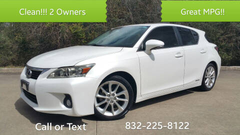 2011 Lexus CT 200h for sale at Houston Auto Preowned in Houston TX