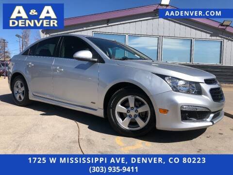 2016 Chevrolet Cruze Limited for sale at A & A AUTO LLC in Denver CO