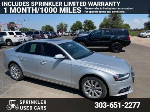 2013 Audi A4 for sale at Sprinkler Used Cars in Longmont CO