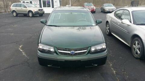 2002 Chevrolet Impala for sale at Lewis Auto World LLC in Brookville OH
