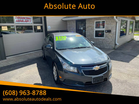 2013 Chevrolet Cruze for sale at Absolute Auto in Baraboo WI