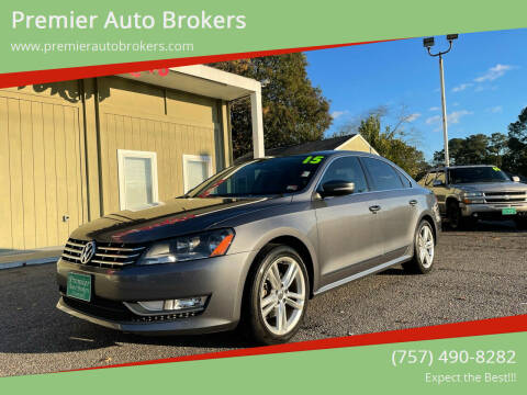 2015 Volkswagen Passat for sale at Premier Auto Brokers in Virginia Beach VA