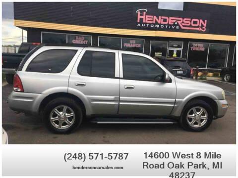 2005 Buick Rainier for sale at Henderson Automotive, LLC in Oak Park MI
