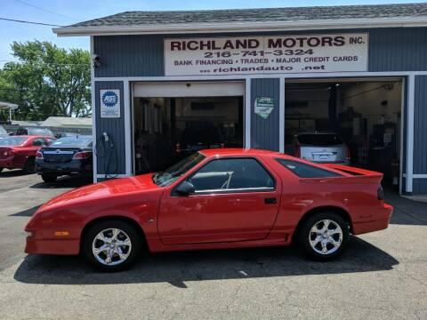 1990 Dodge Daytona for sale at Richland Motors in Cleveland OH