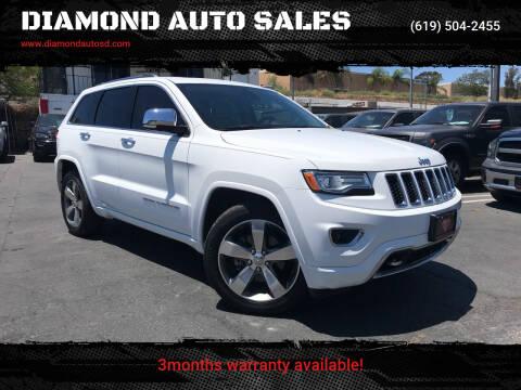2015 Jeep Grand Cherokee for sale at DIAMOND AUTO SALES in El Cajon CA