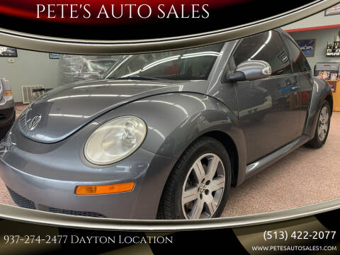 2006 Volkswagen New Beetle for sale at PETE'S AUTO SALES - Dayton in Dayton OH