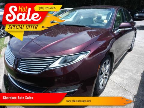 2013 Lincoln MKZ for sale at Cherokee Auto Sales in Acworth GA